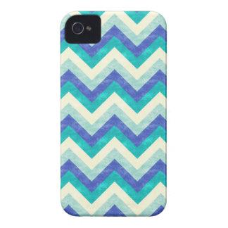 Chevron - Ocean Blue Green Chevron pattern iPhone 4 Covers