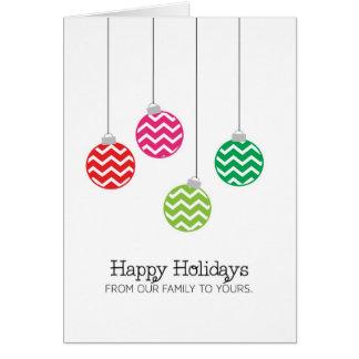 Chevron Ornament Holiday Card