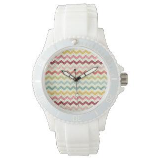Chevron Pattern 3 Wristwatch