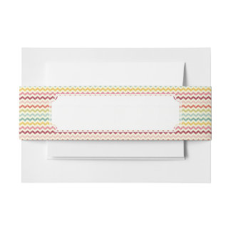 Chevron Pattern 4 Invitation Belly Band