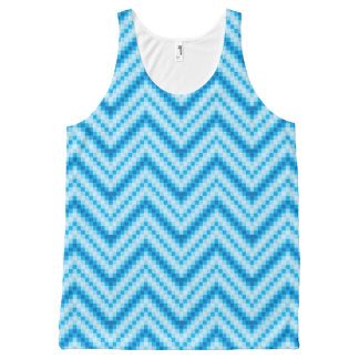 Chevron Pattern Background All-Over Print Tank Top