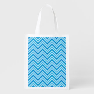 Chevron Pattern Background Reusable Grocery Bag