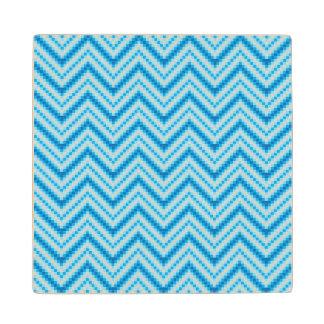 Chevron Pattern Background Wood Coaster