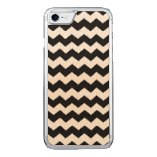 Chevron Pattern Black and White Carved iPhone 8/7 Case