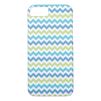 Chevron Pattern   Blue & Green iPhone 7 Case