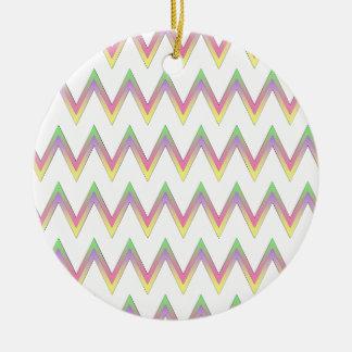 Chevron pattern christmas ornament