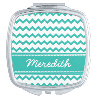 Chevron Pattern Compact Mirror Bridal Party Gift