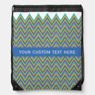 Chevron Pattern custom backpack