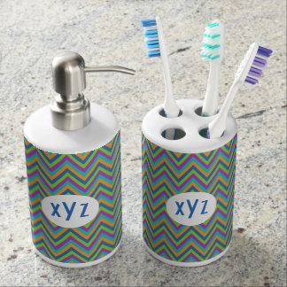 Chevron Pattern custom bathroom set