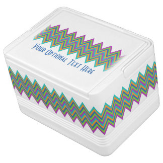 Chevron Pattern custom cooler Igloo Cooler