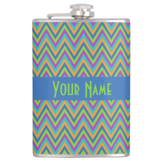 Chevron Pattern custom custom flasks