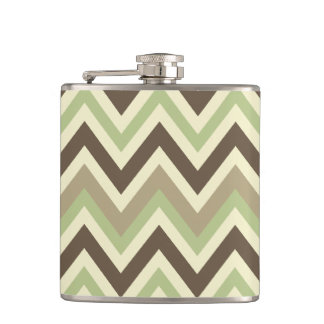 Chevron Pattern custom flask
