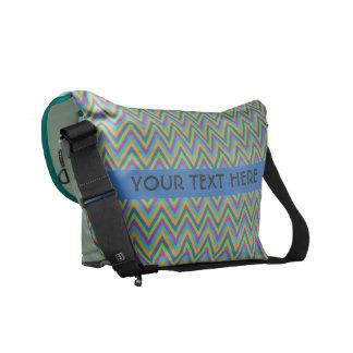 Chevron Pattern custom messenger bag