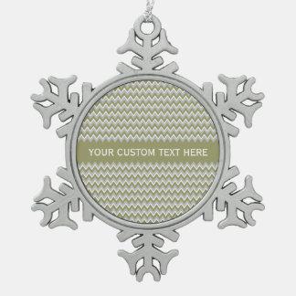Chevron Pattern custom ornament