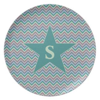 Chevron Pattern custom plate