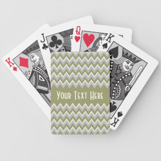 Chevron Pattern custom playing cards
