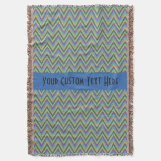 Chevron Pattern custom throw blanket
