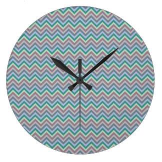 Chevron Pattern custom wall clock