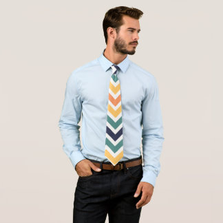 Chevron Pattern Design Tie