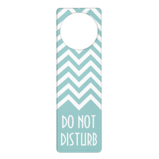 Chevron pattern door hanger | Do not disturb sign