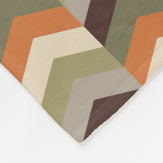 Chevron pattern-fleece blanket