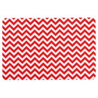 CHEVRON PATTERN FLOOR MAT, Red & White Floor Mat