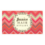 Chevron Pattern Hair Stylist Appointment Cards Business Card