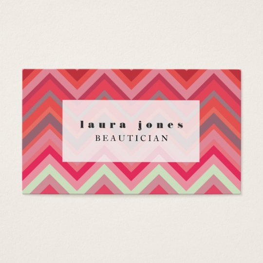Chevron Pattern Hair Stylist Fashion Template Business Card