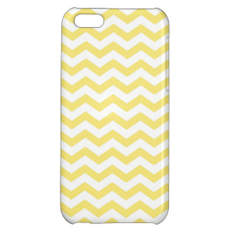 Chevron Pattern in Lemon Yellow and White iPhone 5C Cases