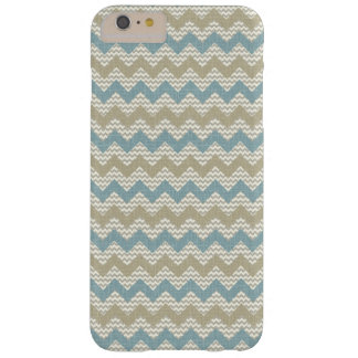 Chevron pattern on linen texture barely there iPhone 6 plus case
