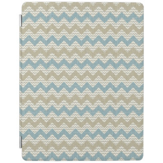 Chevron pattern on linen texture iPad cover