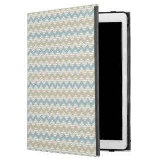 """Chevron pattern on linen texture iPad pro 12.9"""" case"""