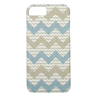 Chevron pattern on linen texture iPhone 8/7 case