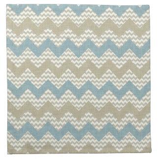 Chevron pattern on linen texture napkin
