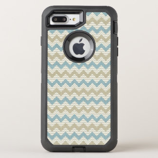 Chevron pattern on linen texture OtterBox defender iPhone 8 plus/7 plus case