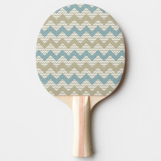 Chevron pattern on linen texture ping pong paddle