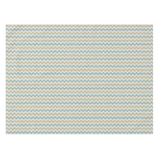 Chevron pattern on linen texture tablecloth