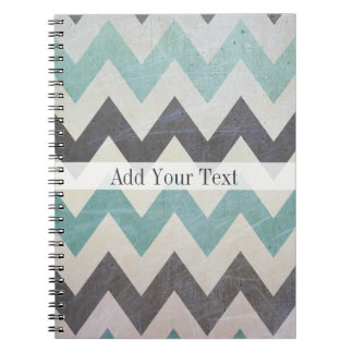 Chevron Pattern On Metal Texture by Shirley Taylor Notebook