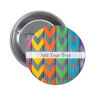 Chevron Pattern On Wood Texture by Shirley Taylor 6 Cm Round Badge