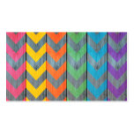 Chevron Pattern On Wood Texture by Shirley Taylor Pack Of Standard Business Cards