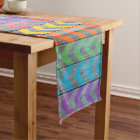 Chevron Pattern On Wood Texture by Shirley Taylor Short Table Runner