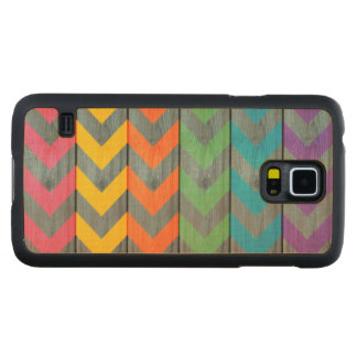 Chevron Pattern On Wood Texture Carved® Maple Galaxy S5 Case