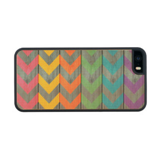 Chevron Pattern On Wood Texture Carved® Maple iPhone 5 Slim Case