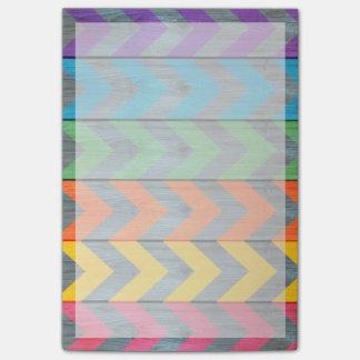 Chevron Pattern On Wood Texture Post-it Notes