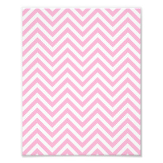 Chevron Pattern Pink White ZigZag For Her Art Photo