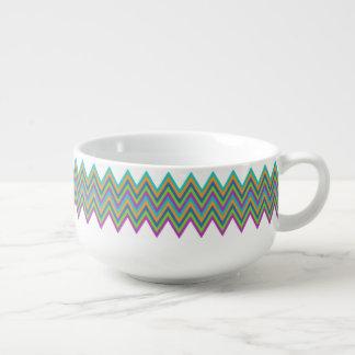 Chevron Pattern soup mug