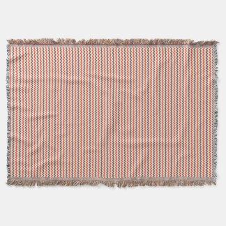 Chevron pattern warm red brown on pastel pink