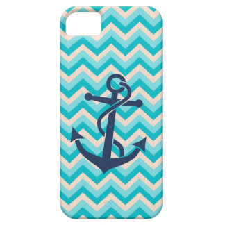 Chevron Pattern with Anchor Case For The iPhone 5