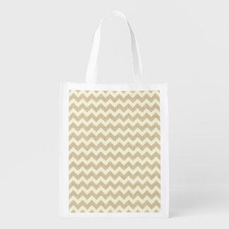 Chevron Pattern Grocery Bags