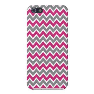 Chevron Pern (fuchsia) iPhone 5/5S Cases